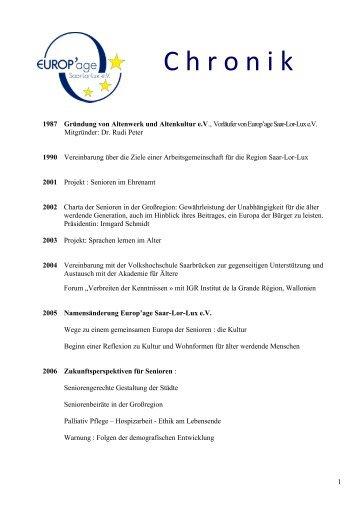 Zur Druckversion der Chronik 25 Jahre Verein Europ'age Saar-Lor ...