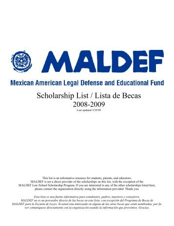 MALDEF Scholarships - William Perez, Ph.D.