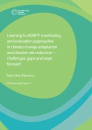 Learning to ADAPT: monitoring and evaluation approaches in ...