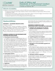 German Code of Ethics and Standards.qxd