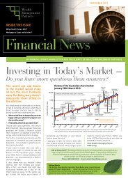 Investing in Today's Market – - WMP Group