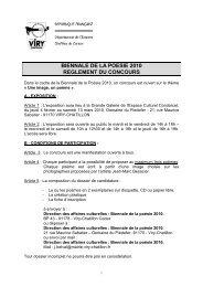 biennale de la poesie 2010 reglement du concours - Ville de Viry ...