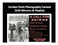 1st Place - the Gordon Parks Museum/Center