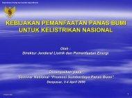 kebijakan pemanfaatan panas bumi untuk kelistrikan nasional