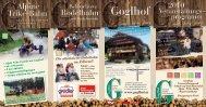 Veranstaltungs- programm - Gasthaus Goglhof
