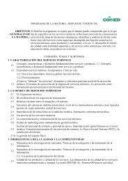 PROGRAMA DE LA MATERIA - SERVICIOS TURÍSTICOS ...