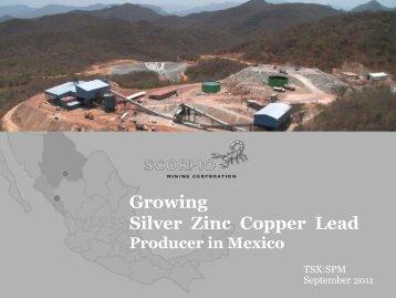 Growing Silver Zinc Copper Lead - gowebcasting