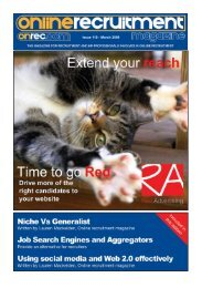 Issue 110 - March 2009 - Online Recruitment Magazine