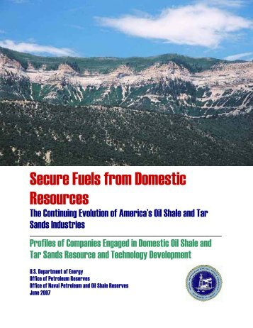 Secure Fuels from Domestic Resources - DOE - Fossil Energy - U.S. ...