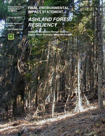 ashland forest resiliency - Southern Oregon Digital Archives ...