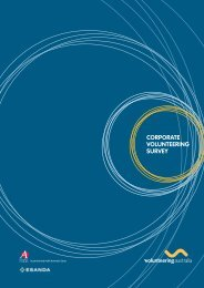 VA Corporate Volunteering Survey 2006 - Volunteering Australia