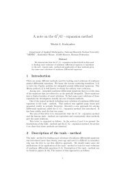 A note on the G /G - expansion method - The World of Mathematical ...