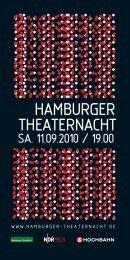 Bühne frei für Hamburg! - Hamburger Theaternacht