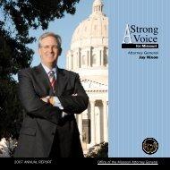 Annual Report - Missouri Attorney General - Missouri State ...