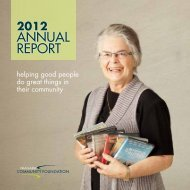 2012 aNNual report - Niagara Community Foundation
