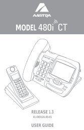 480i CT User Guide 1.3.pdf - Web Configurator - Aastra