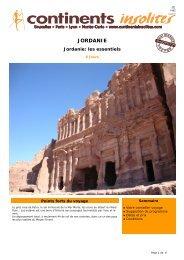JORDANIE - Continents Insolites