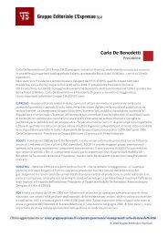 Carlo De Benedetti - Gruppo Editoriale L'Espresso S.p.A.
