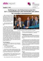 Ausgabe 1/2013 - [DBB] - Landesbund Bremen
