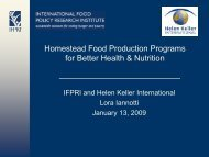 PDF 605K - IFPRI - International Food Policy Research Institute