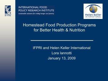 PDF 605K - IFPRI - International Food Policy Research Institute