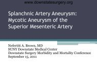 Mycotic Aneurysm of the Superior Mesenteric Artery - Department of ...