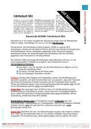 Fahrtenbuch richtig führen - Siart und Team Treuhand GmbH