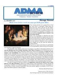 Marie nous invite à avoir un cœur qui brûle pour Dieu