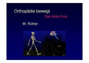 Vorlesung Leitsymptom Das dicke Knie