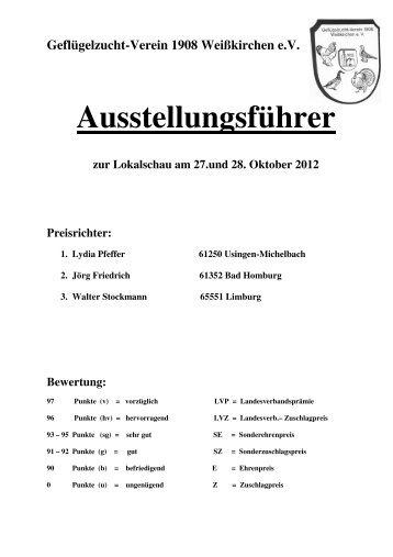 Ausstellungsführer - GZV Weißkirchen