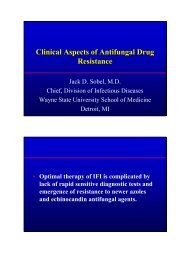 Clinical Aspects of Antifungal Drug Resistance - Solutions X 2