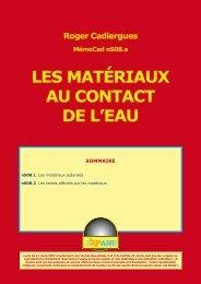 LES MATÉRIAUX AU CONTACT DE L'EAU