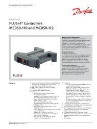 PDF 1.25 MB - Sauer-Danfoss