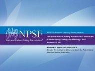 Download the presentation slides - National Patient Safety Foundation
