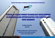 status of solar power technology development in indonesia and ...