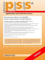 Band structure effects on the Be(0001) acoustic-surface-plasmon ...