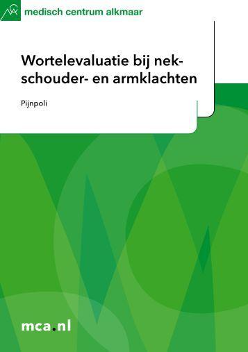 mca.nl Wortelevaluatie bij nek- schouder- en armklachten