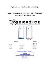 Vandens šildytuvų instrukcija - Aqua jazz