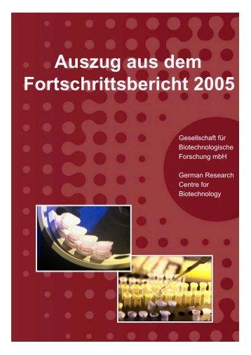 Auszug aus dem Fortschrittsbericht 2005 - Helmholtz-Zentrum für ...