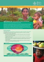 CGIAR Research Program on Nutrition and Health