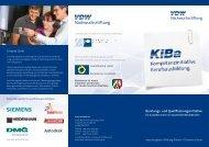 Beratungs- und Qualifizierungsinitiative Unsere Ziele - VDW ...
