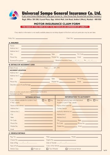 Sbi Claim Form - Windshield Experts