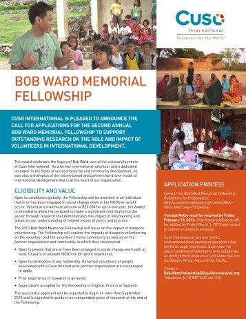 Fellowship Poster (PDF) - Cuso International