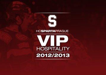 HC Sparta Praha 2012-13 VIP Hospitality Offer