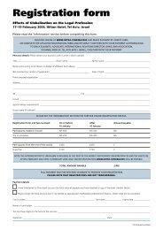 Registration form - Ortra