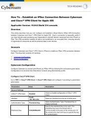 Establish an IPSec Connection Between Cyberoam and Cisco ...