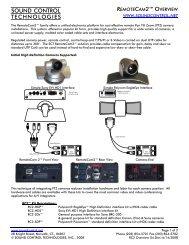 Sound Control Technologies SCT RC3-HE RemoteCam3 Digital Camera Module