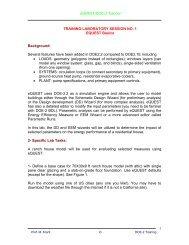 eQUEST/DOE-2 Tutorial TRAINING LABORATORY SESSION NO. 1 ...