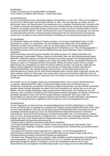 Sandberghof Umbau und Sanierung mit ... - Schauer+Volhard