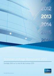 Sommerumfrage Büromarkt 2013 - Colliers International Zurich